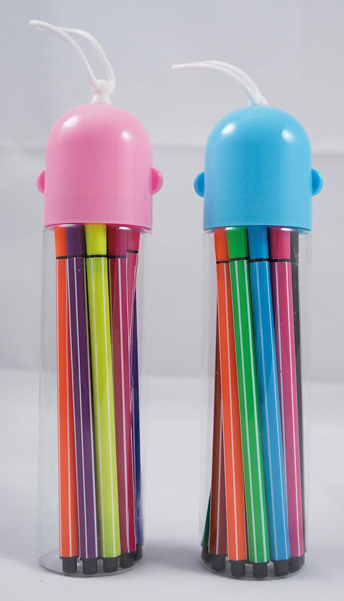 12色水洗式彩色筆