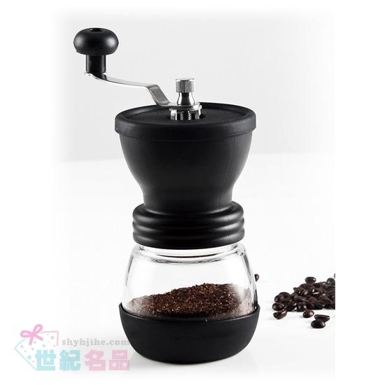 手搖咖啡豆磨豆機+儲存瓶2入