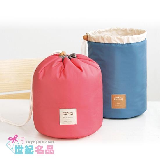 簡約防水圓筒收納包