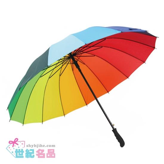 16骨彩虹雨傘