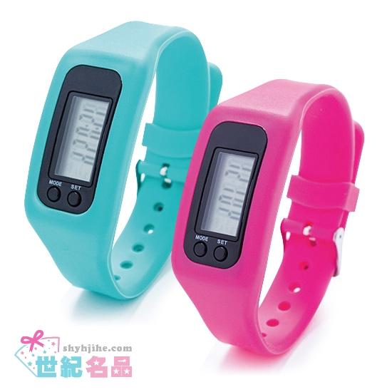 矽膠計步器電子錶