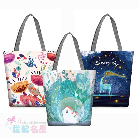 客製化彩色噴印帆布揹袋
