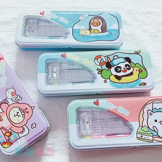 韓風馬口鐵筆盒