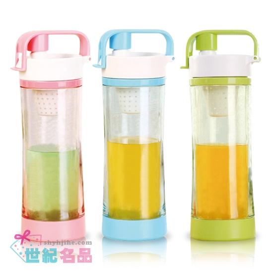 手提雙層運動玻璃瓶
